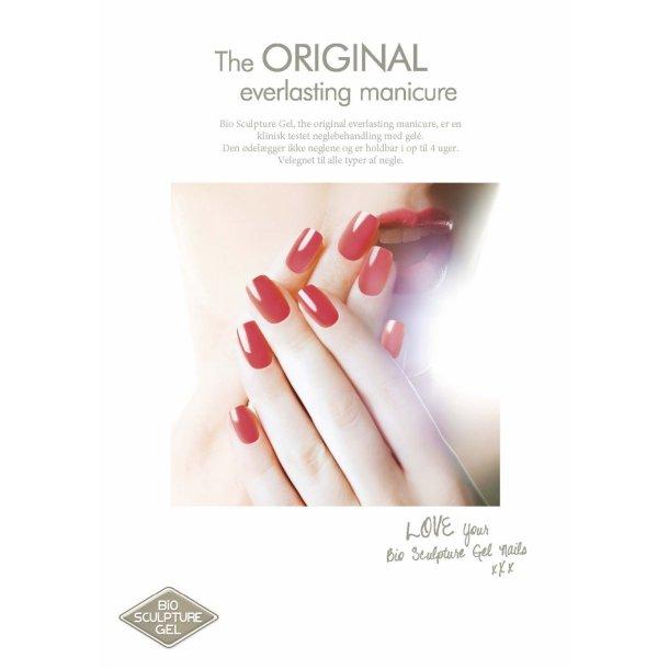 Bio Sculpture Postkort-røde negle - 50 stk
