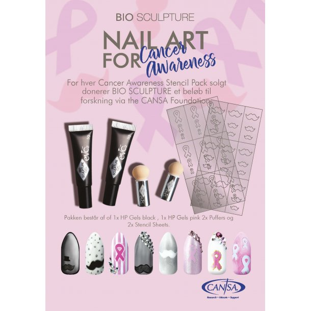 Bio Nail Art Stencils - Cancer Awarenes 2 stk