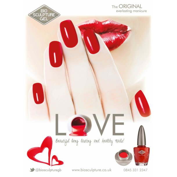 BIO Color Poster 50*70 - Plakat nr. 18 (Love nails)